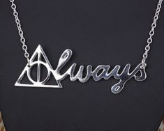 ************Welcome to my shop************* Harry Potter Always Necklace Deathly Hallows Necklace Patronus Necklace Harry Potter Necklace Hogwarts Snitch always Deathly Hallows Gift  The necklace length is about 17 inches.  Please feel free to contact us about products' details before buying...