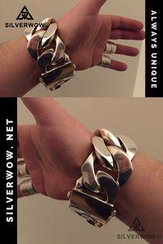Chunky Silver Bracelet, Silver Chain Necklace, Silver Jewellery, Silver Necklaces, Sterling Silver Bracelets, Silver Chain For Men, Silver Man, Bracelets For Men, Jewelry Bracelets