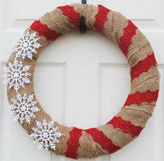 Christmas Wreaths maybe add some felt flowers