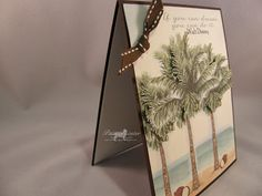 Patti's Paper Creations - Palm Tree and Pineapple and Coconuts from Doodle Pantry