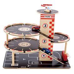 Hape Toys Park & Go Garage Playset Wooden Toy Garage, Wooden Car, Wooden Garages, Hape Toys, Pompe A Essence, Wood Toys, Diy Toys, Toddler Toys, Car Garage