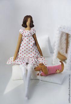 Куклы Тильды ручной работы. Ярмарка Мастеров - ручная работа Дама с таксой.. Handmade.