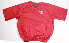 mens FOOTJOY V neck golf shirt jacket red windbreaker XL STORM CLUB EUC #footjoy #ShirtsTops