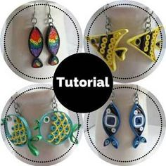 paper quilling tutorial jewelry