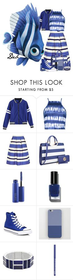 """""""Deb"""" by allyssister ❤ liked on Polyvore featuring Boohoo, Paul & Joe Sister, MAC Cosmetics, Bobbi Brown Cosmetics, Converse, Chaps, NYX and Lipstick Queen"""