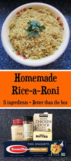 Make rice-a-roni from scratch in the SAME amount of time as the boxed stuff. Plu… Make rice-a-roni from scratch in the SAME amount of time as the boxed stuff. Plus this secret ingredient puts your homemade version over the top on taste! Ricearoni Recipes, Copycat Recipes, Real Food Recipes, Dinner Recipes, Cooking Recipes, Recipies, Food Tips, Diy Food, Cooking Tips