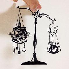 切り絵な夜は芋焼酎-papercutblog-