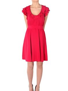 Red Valentino   rouches dress