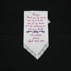 Wedding Gifts for Mother in Law Personalized by NapaEmbroidery