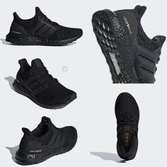 "the best attitude 54cd5 5b7b6 Official Look at a new adidas Ultra Boost ""Triple Black"" with gold accents  releasing"