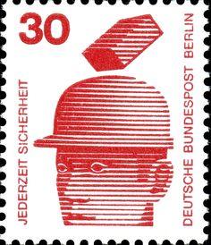 Art - Stamp - German - Worker safety 1972 - 3