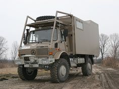 Unimog Camper. Big enough to where if you hit zombies, minimal damage would be done.