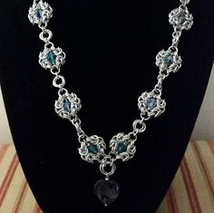 Romanov and Swarovski Chainmaille Necklace by SqunchesJewels