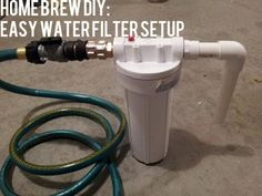DIY Homebrew Water Filter