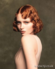 Photo of 2012 redhead finger waves womens hairstyle hairstyle