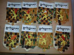 Yom Jerushalaim Art For Kids, Crafts For Kids, Arts And Crafts, Pop Up Flower Cards, Israel, Hebrew School, Learn Hebrew, Jewish Art, School Holidays