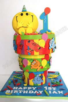 Celebrate with Cake!: Upside Down Mr Men Cake