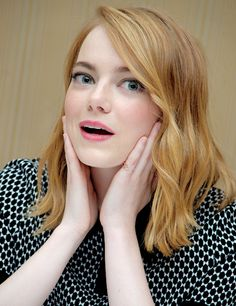 Emma Stone at the 'Irrational Man' Press Conference at the Regent Beverly Wilshire Hotel on July 8, 2015 in Beverly Hills, California.