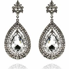 Maria Earrings http://blossomboxjewelry.com/e1341.html #indian #jewelry #fashion #bollywood #designer #earrings #silver