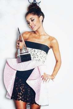 Ariana Grande. I'm going to be famous like her, and use it to spread positivity! I have a passion for singing.