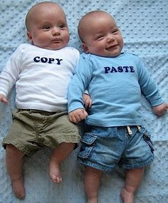 "If I have twins, I am so doing this!!!  The whole ""Thing 1 and Thing 2"" is overdone."