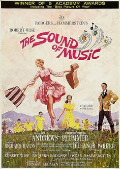 The Sound of Music. Movie poster (detail). Illustrated by Howard Terpning, 1965. I have seen this move more than 7 times!