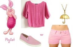 Piglet Outfit-  The Many Adventures of Winnie the Pooh by Stacy P.
