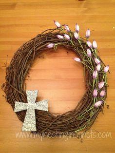 Simple Easter Wreath DIY