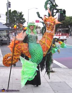 Mermaid and Seahorse - 2015 Halloween Costume Contest via @costume_works