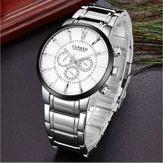 Stylové pánské hodinky Curren BLACK STEEL ve stříbrné barvě Na tento  produkt se vztahuje nejen zajímavá 9e9c03e647