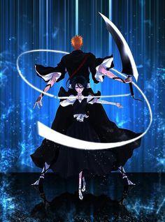 Anime: Bleach Characters: Ichigo Kurosaki and Rukia Kuchiki