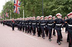 Royal Marines Cadets Foundation parade London 2014 Green Beret, Royal Marines, Royal Navy, British Royals, Armed Forces, Teamwork, Ranger, Foundation, Army