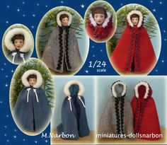 Capa para muñeco escala 1/24, mide 7 a 8cm. Hecha por encargo.  Wearable cape for 1/24 scale doll, measures 3 inches. Made by request.