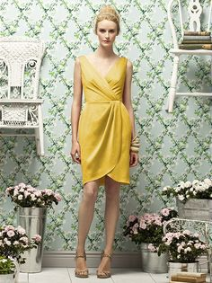 cocktail, glamour satin, v-neck, , gold, dresses, bridesmaid, short, sleeveless