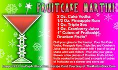 FRUITCAKE MARTINI for National Fruitcake Day,  December 27th.