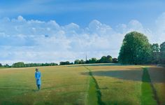 Jerry Butler in Brockwell Park - Acrylic painting on canvas (2010) by Martin Grover