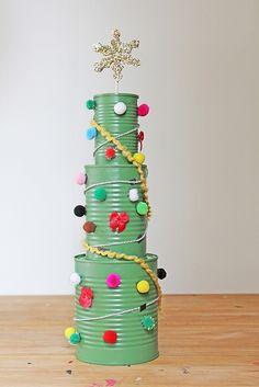 Tin Can Christmas Tree Activity