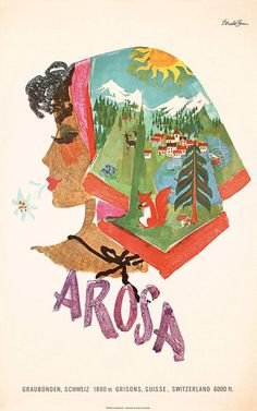 Travel Poster Illustration: Arosa by Donald Brun