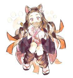たんぽぽ✨ on - Back Anime Chibi, Manga Anime, Gato Anime, Anime Demon, Anime Art, Demon Slayer, Slayer Anime, Anime Screenshots, Cute Chibi