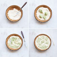 Follow this creative dessert recipe to make Marbled Matcha Cheesecake.