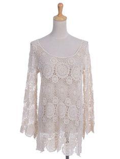Anna-Kaci S/M Fit Beige Boho Hippie Babe Floral Crochet Knit Scallop Edge Top Anna-Kaci http://www.amazon.com/dp/B00F2NPCCQ/ref=cm_sw_r_pi_dp_1tjLtb0PZQQZTZ1E