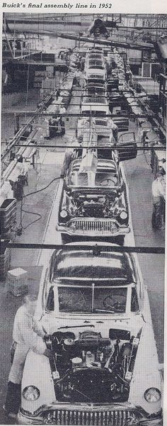 Buick assembly line  buick magazine  january 53