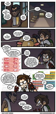 When I read in the non special edition that you had to kill your goat to get rid of it… Comic by Awkward Zombie! Harvest Games, Harvest Moon Game, Awkward Zombie, Dorkly Comics, Stardew Valley Fanart, Funny Google Searches, Professor Layton, Video Games Funny, Ol Days