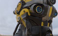 Retro-future trooper concept. The detail is magnificent. Modeled by Piotr Bialecki and rendered in KeyShot by Andrzej Orzecki.