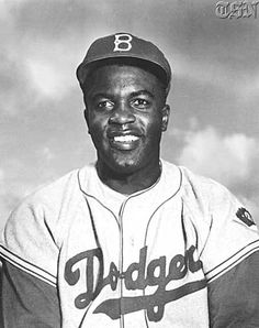 Jackie Robinson...one of my heros.  Not because he was a baseball player (possibly the greatest of all time) but because of the caliber of man he was.