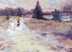 Snow Day! Winter in Texas. I love the work of this present day impressionist.