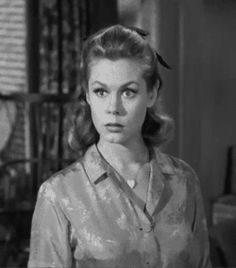 My favorite tv show growing up Bewitched...Elizabeth Montgomery. Need a little humor at the dinner. I adored her!