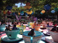 Mad Hatter Tea Cups ride at Disneyland