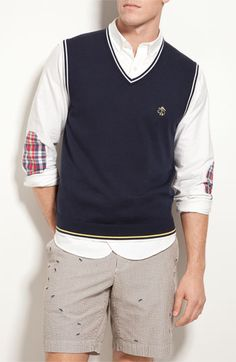 Brooks Brothers Tipped Vest available at #Nordstrom