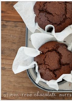 Gluten Free Chocolate Muffins   With the aid of #food #allergy #diets and food intolerance diets, you can uncover all the safe, tasty and healthy food allergy diets offered to you. Read More Here http://foodallergydiets.blogspot.com